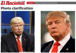 Dominican Newspaper Uses Wrong Donald Trump Photo