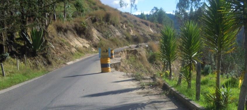 road fallen away