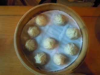 Dumplings at a Chinese restaurant