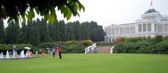 Presidential Palace as seen from the golf course