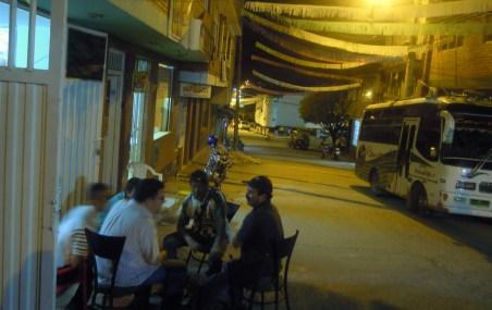 guys sitting outside
