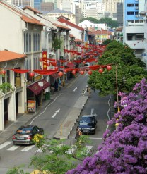 The entrance to China Town in Singapore