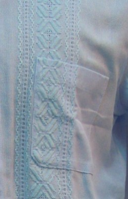 design detail on guayabera