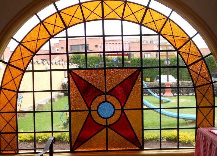 Dulcinea Stained glass window