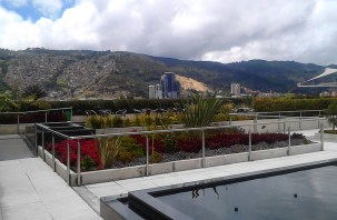 One view from rooftop garden