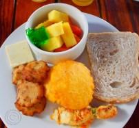 Michael's breakfast at Barranquilla Plaza