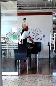 Probocatto front employee working