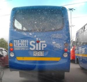 SITP bus in Bogota