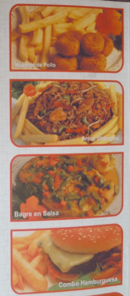 Part of the menu from Brasa Express