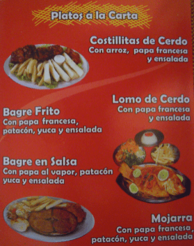 Menu Pernilones in Mosquera