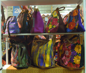 Need a colorful handbag. Yes, you can find superb ones at the fair.