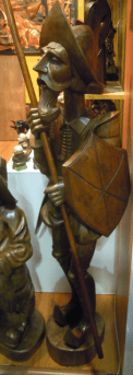 Carved statue of Don Quixote