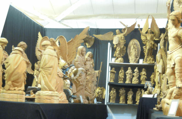 Carved religious statues