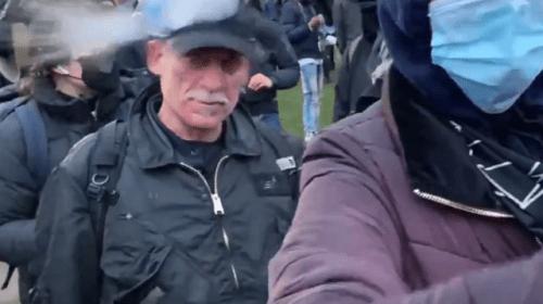BLM Protesters Attack Media near Brooklyn Center Police Building