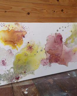 Colorful art. Flower art.