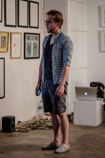 photographer: Dimitri Djuric; performing Luke Nickel's '[factory]'