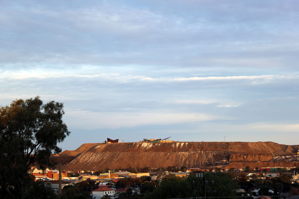 "The ""line of lode"" overlooking Broken Hill"