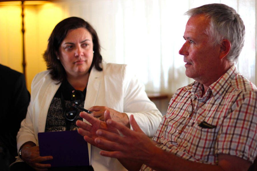 Renewable Newstead's Geoff Park speaks with Melissa O'Neill from Powercor