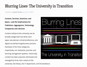 The Blurring Lines Series: The University in Transition