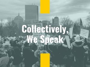 They will interrupt us, talk over us, and discourage our voices. Still, we speak with clarity.