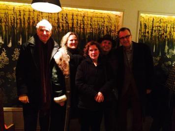 Michael Braudy, Eva Ingolf and Rain Worthington in restaurant December 2014