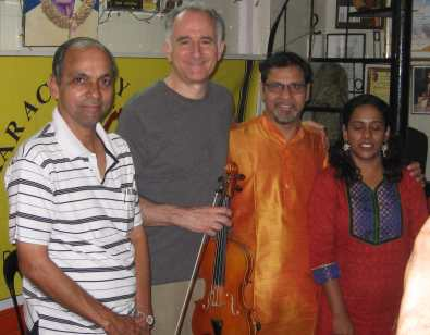 Michael with Milind Raikar and students after class in Mumbai Feb 5 2014