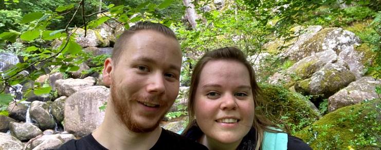 Woodland selfie when visiting Becky Falls