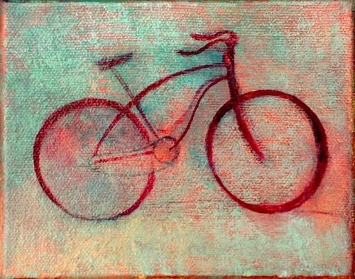 Ready Bike, oil on canvas, Michael Chambers