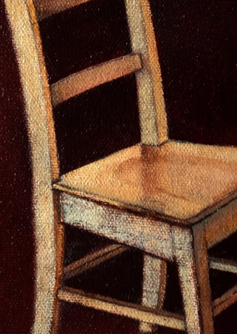 Michael Chambers, oil on canvas, Ghostchair