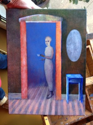 HG in process 10-23-2015 - oil on canvas - Michael Chambers