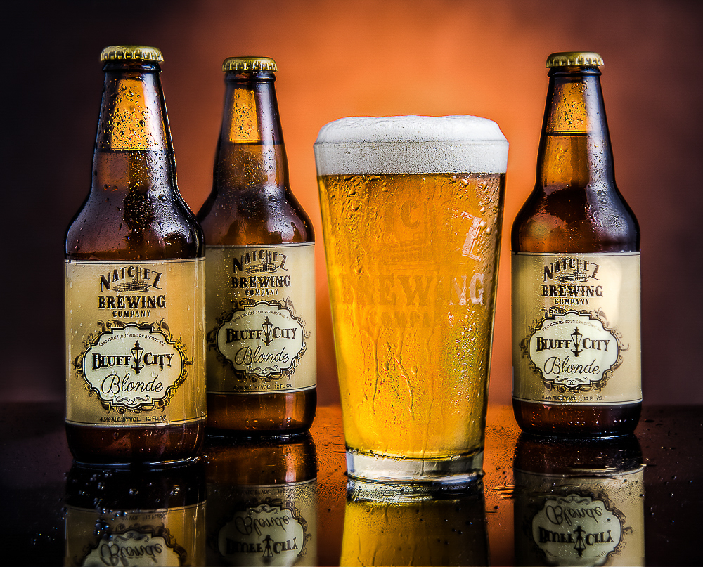 Portrait & Wedding Photographer in Natchez. Commercial Photography - Beverage Photography - for the Natchez Brewing Company.