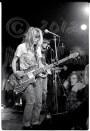 Kim Gordon & Thurston Moore behind bright lights [Sonic Youth - I Beam, SF 7-7-86]