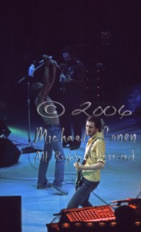 Pete Townshend, Roger Daltry & John Entwhistle side stage view [