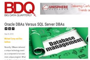 Oracle DBAs Versus SQL Server DBAs