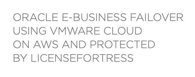 Oracle E-Business Failover on AWS