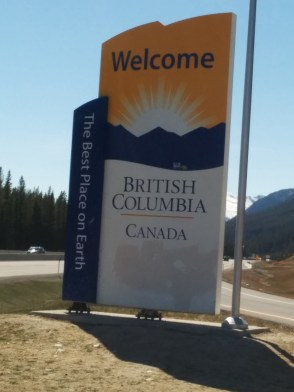 We made it to British Columbia.