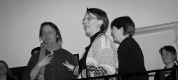 after concert where I directed a community group at the Nelimarkka Museum in Alajarvi, Finland, 2008