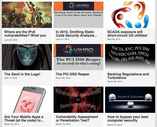VIMRO, LLC - Posts by the VIMRO Advanced Cybersecurity Team