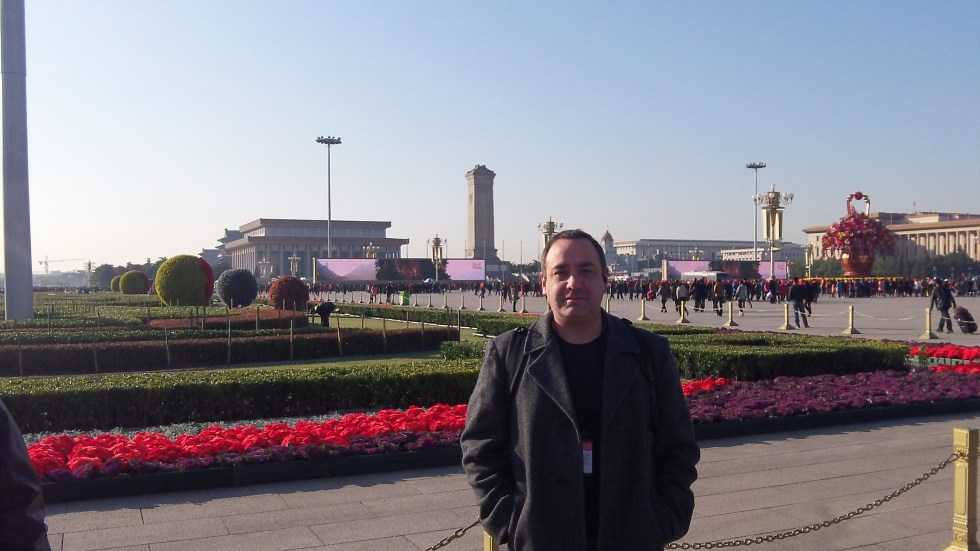 Michael in Tienanmen Square