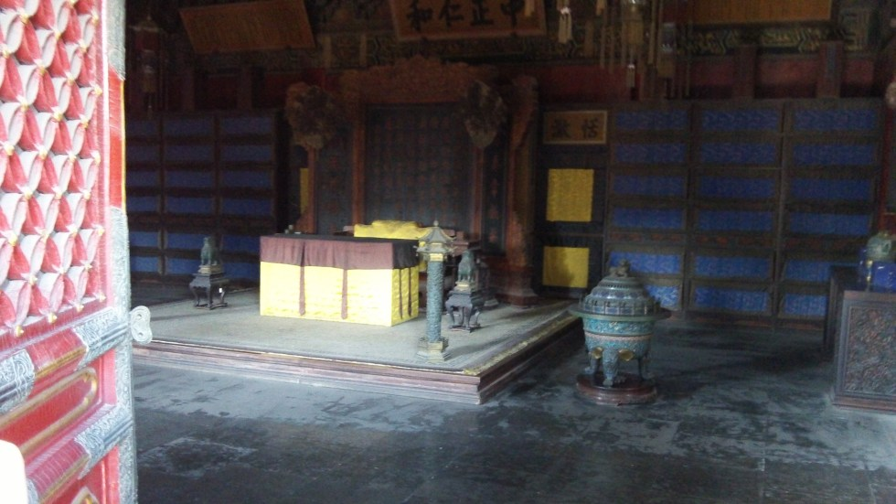 Forbidden Palace Throne Room