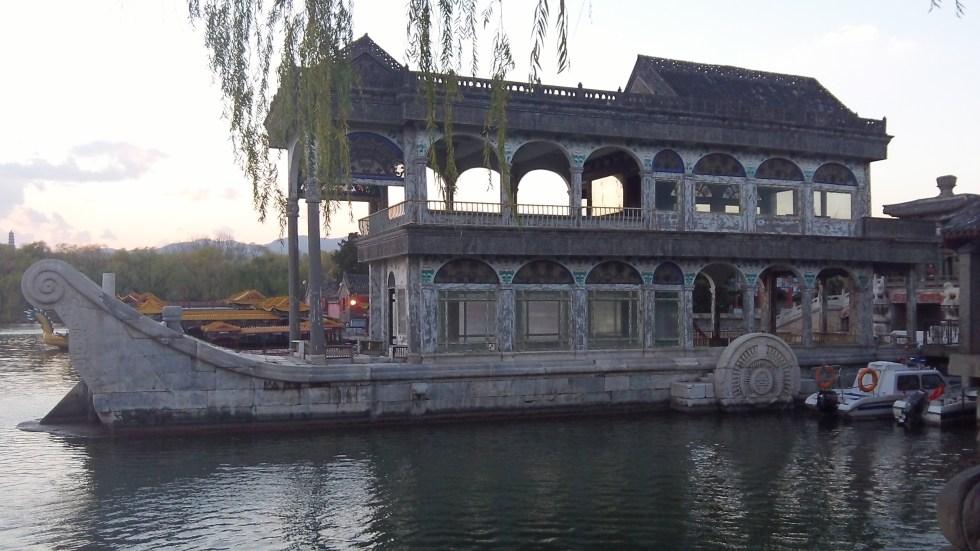 Detail of Jade Ship at Summer Palace