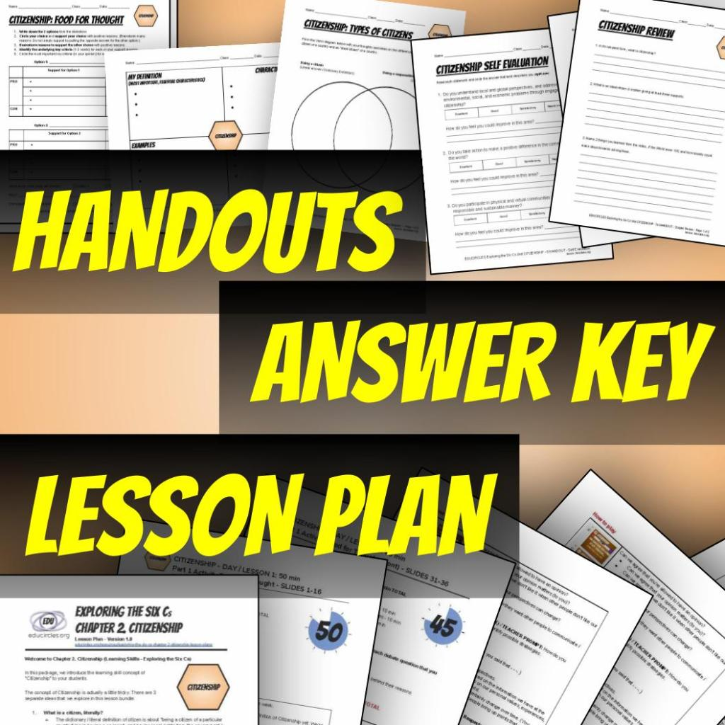 Handouts, answer key, lesson plan