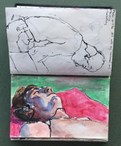 Sketchbook, Paul Sunbathing, 1986