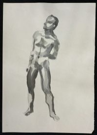 1986 Pencil and ink 23 x 16 1/2 in.