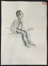 1986 Ink 23 x 16 1/2 in.