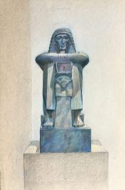 Squatting Figure of Ry, High Priest of Amun