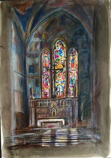 Church Interior, Florence (?), 1987
