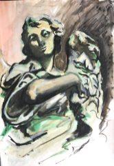 Bernini Angel, The Pantheon, Rome, 1987