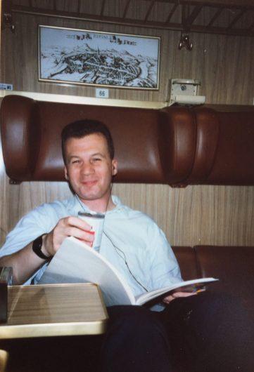 Roberto on the train, 1987