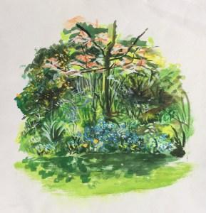 Garden, Hard Lane, St Helens, 1980